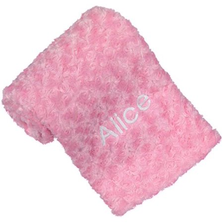 Berry bebe personalized baby blanket pink baby blanket plush berry bebe personalized baby blanket pink baby blanket plush swrirl design perfect negle Images