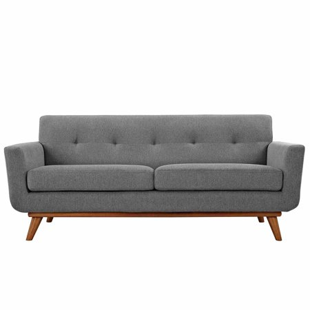 2 Piece Fabric Loveseat - Modway Engage Upholstered Tufted Loveseat, Multiple Colors