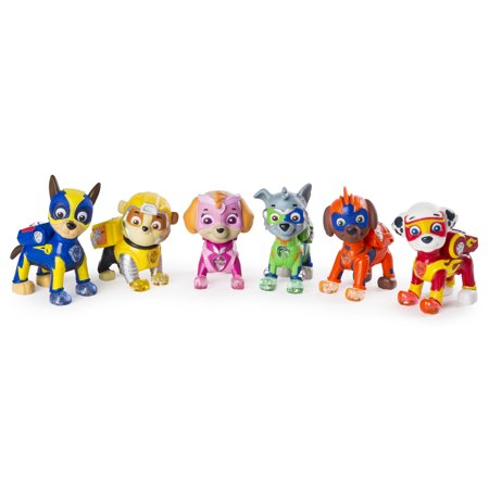 Paw Patrol Pup (PAW Patrol - Mighty Pups 6-Pack Gift Set, PAW Patrol Figures with Light-up Badges and Paws, Wal-Mart Exclusive, for Ages 3 and)