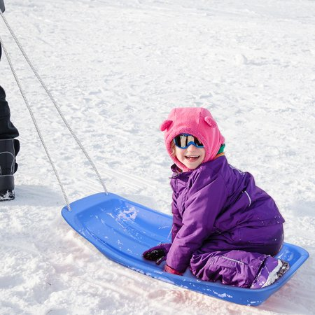 """PHAT Kids Snow Sled Toboggan 34"""" With Rope Outdoor Sport, Blue - image 4 of 5"""