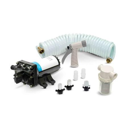 Electric Deck Prowashdown Pump Kit Deluxe for Boat & Rv - 4.0 Gpm Pump - Shurflo FO-3654