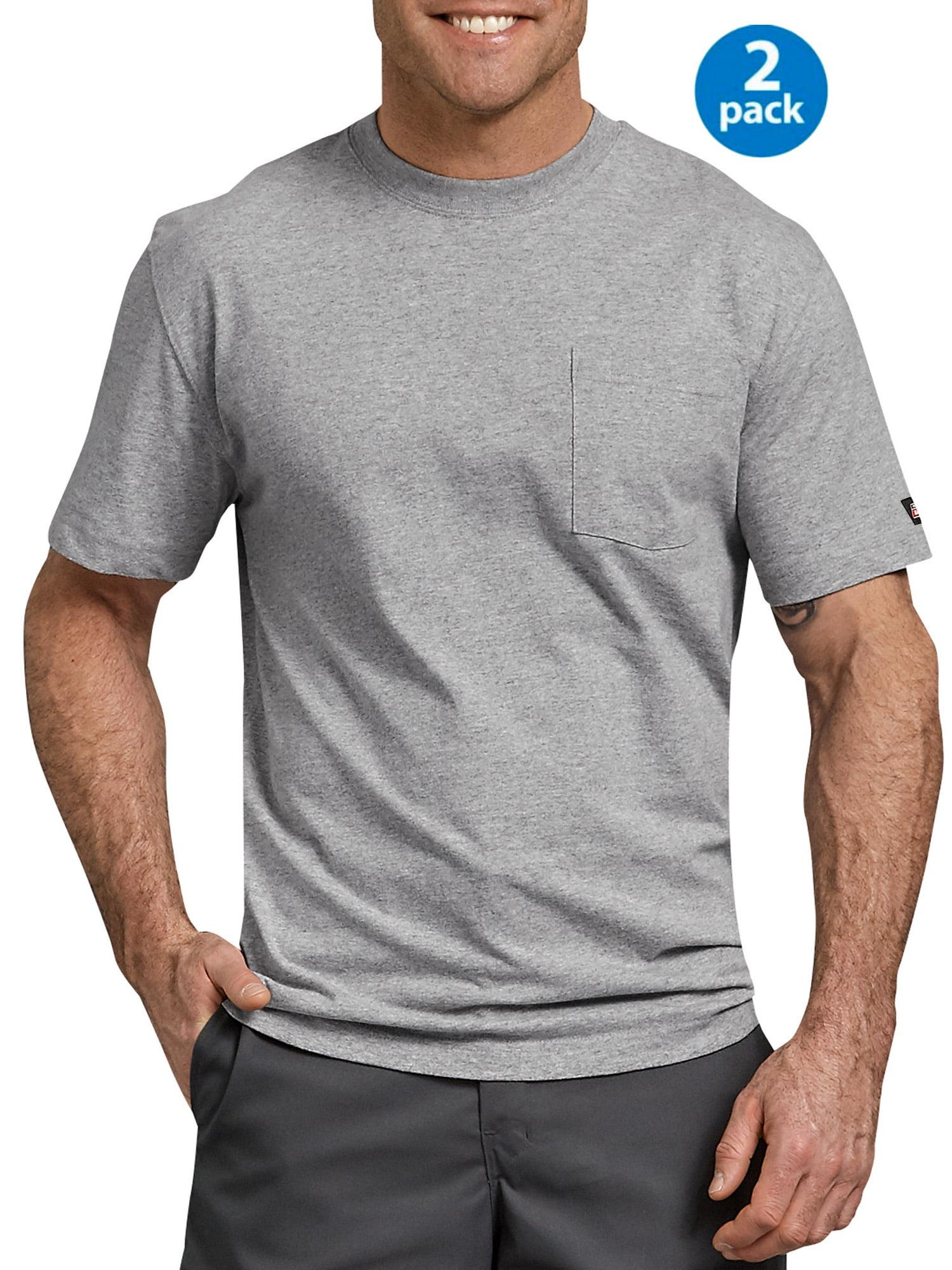 Men's Short Sleeve Heavyweight Pocket T-Shirt, 2-Pack