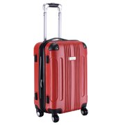 GLOBALWAY Expandable 20 ABS Luggage Carry on Travel Bag Trolley Suitcase Red