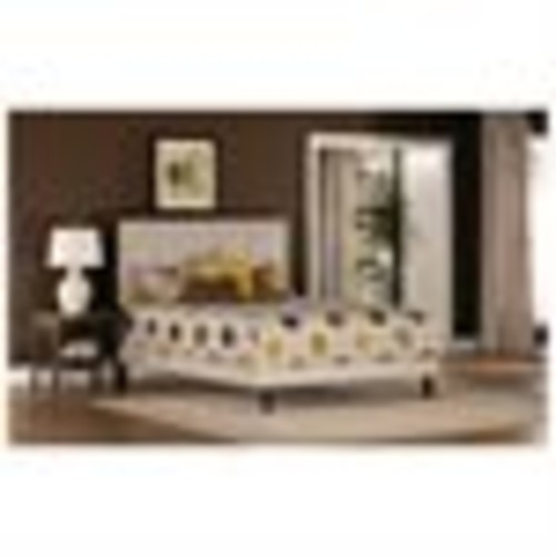 Hillsdale Furniture Becker Bed, Cream, Multiple Sizes by Hillsdale