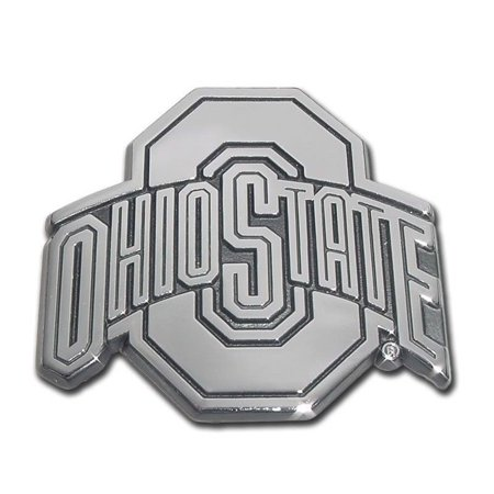 Ohio State Buckeyes Premium Solid Metal Chrome Plated Car Auto Emblem