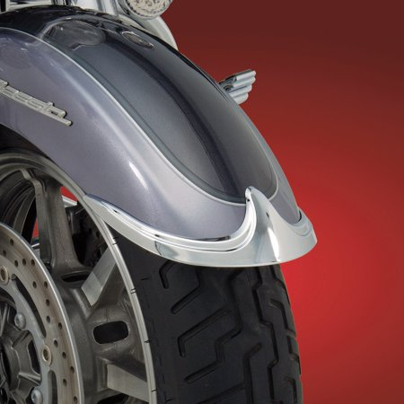 show chrome accessories 63-615 front fender tip accent ()