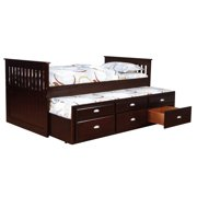 Bernards Twin Captains Bed with Trundle