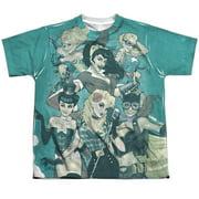 Jla - Bombshell Group - Youth Short Sleeve Shirt - X-Large