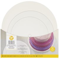 Wilton Cake Board Assorted Pack, White, 12-Count