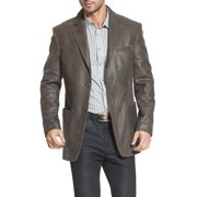 Men's Eric Two-Button Vintage Cowhide Leather Blazer