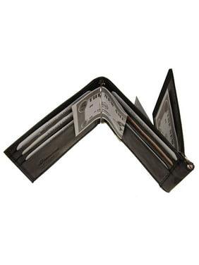 Improving Lifestyles Leather Mens Wallet Spring Money Clip Z Shape Trifold Bifold Money Clip Black credit card Organza B