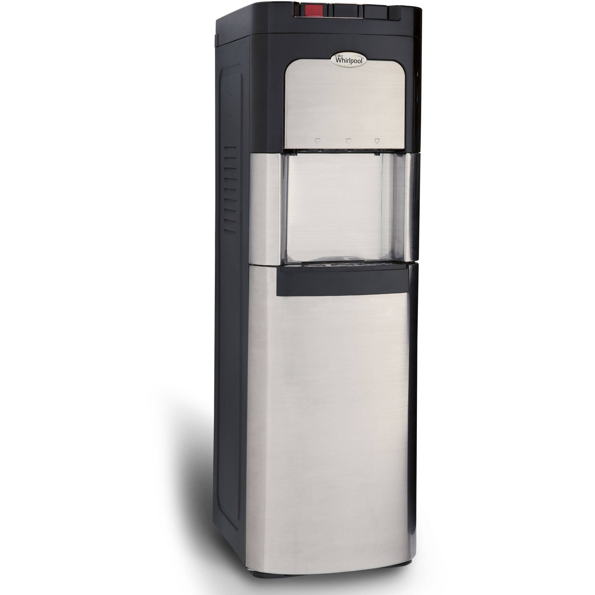 Whirlpool Stainless Steel, Bottom Loading Commercial Water Dispenser Water Cooler, with Ice Chilled Water Cooling Technology and Steaming Hot Water