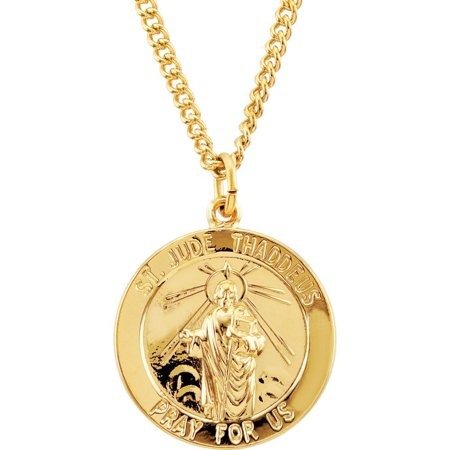 - Bella Grace Jewelry Collection 24K Gold Plated 22mm Round St. Jude 24