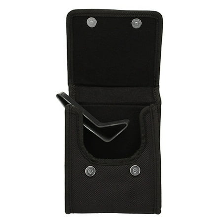 "Bulldog Cases Black Nylon ""Vertical"" Cell Phone Holster w/ Belt Loop and Clip Fits Compact 9mm Semi-Autos (Ruger LC-9)"