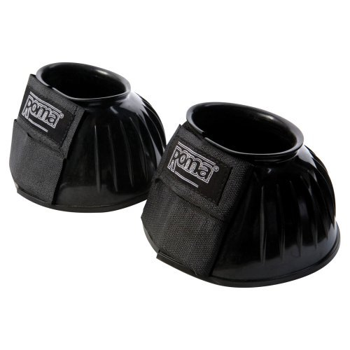 Roma Double Tape PVC Ribbed Bell Boots - Set of 2