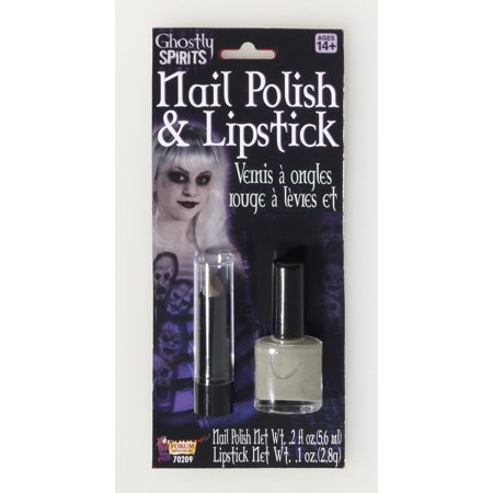 Ghostly Spirit Nail Polish Lipstick Costume Makeup