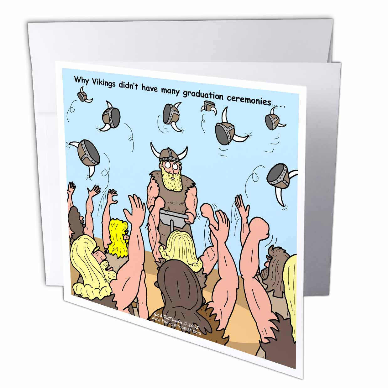 3dRose Why Vikings Didnt Have Many Graduation Ceremonies, Greeting Card, 6 x 6 inches, single