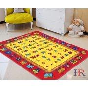Letters/Numbers/math symbols Kids Educational play mat Rug For School/Classroom / Kids Room/Daycare/ Nursery Non-Slip Gel Back Rug Carpet