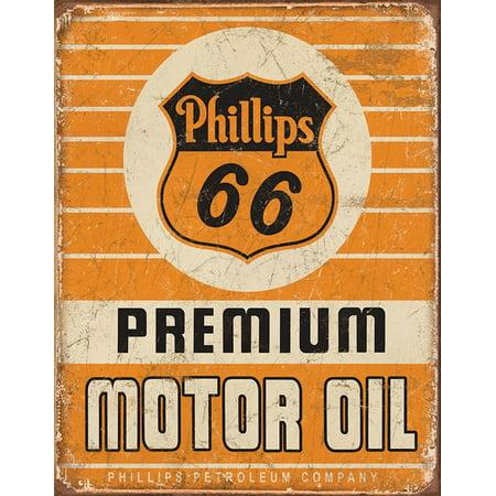 Phillips 66 Premium Oil Tin Sign Multi Colored