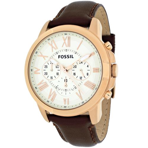 Fossil Men's Grant Watch Quartz Mineral Crystal FS4991