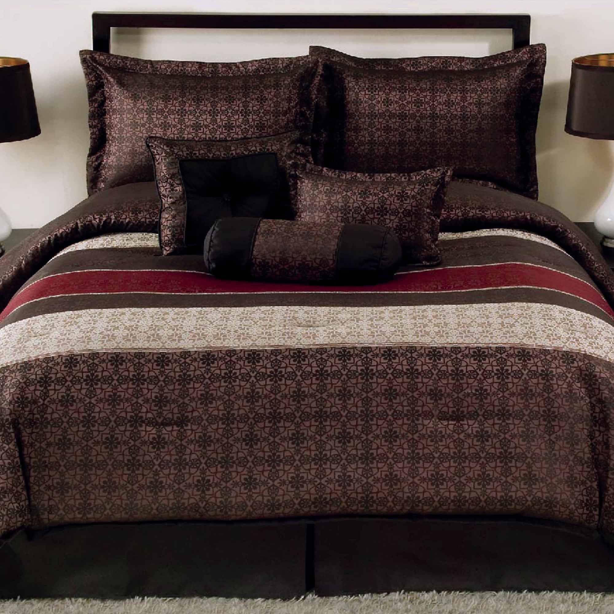 Mainstays Full or Queen Medici Comforter Set, 7 Piece
