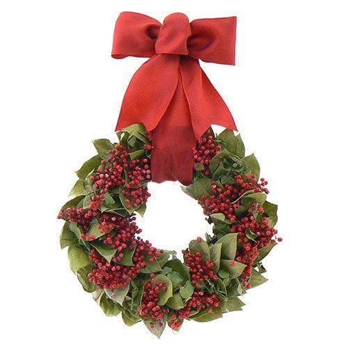 Urban Florals Berry Christmas Wreath
