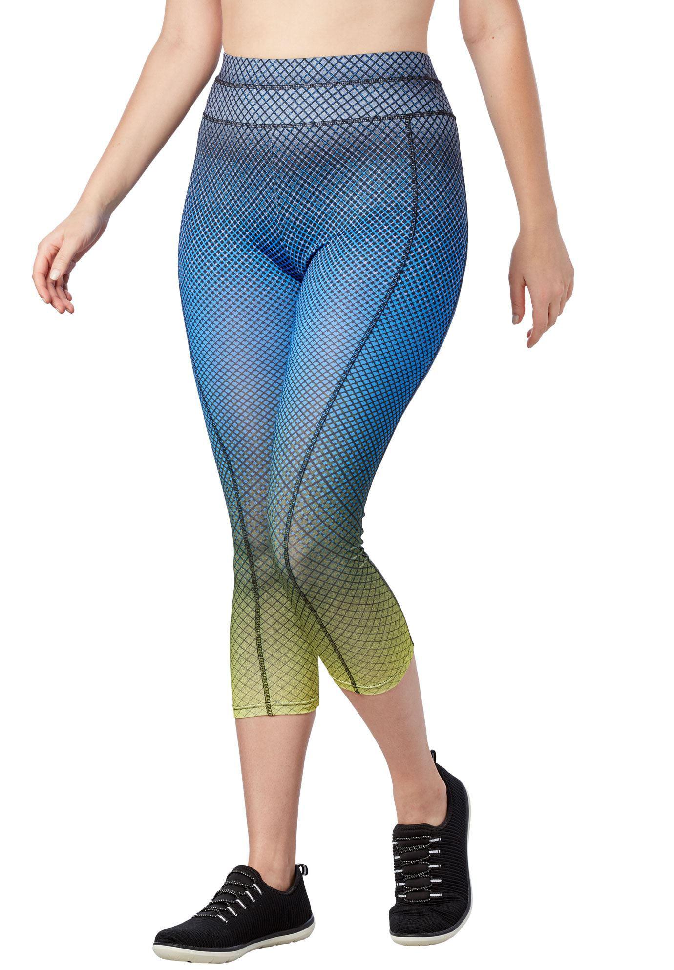 fullbeauty SPORT Womens Plus Size Active Capri Legging