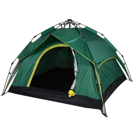 Automatic Tent Instant Self Pop Up Tent for Camping 3-4 Person Portable Foldable Waterproof Windproof Anti-UV for Family Backpacking Hiking ()