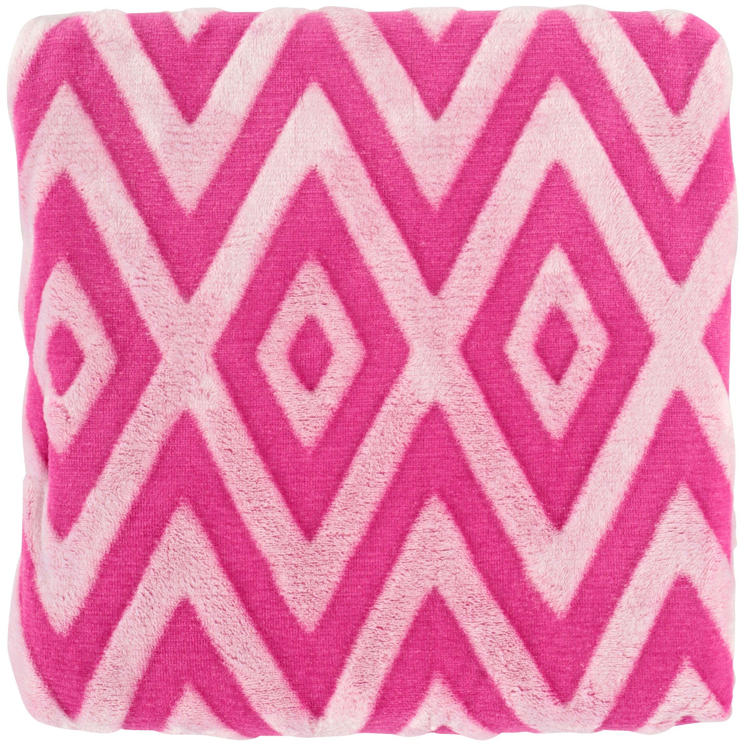 Pop Shop Two Tone Throw Pack, Pink