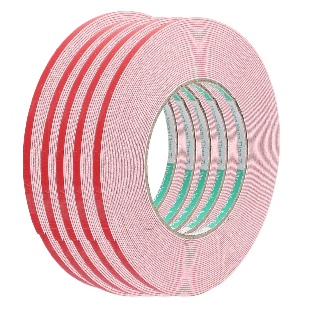 5pcs 10M 5mm x 1mm Dual-side Adhesive Shockproof Sponge Foam Tape Red White