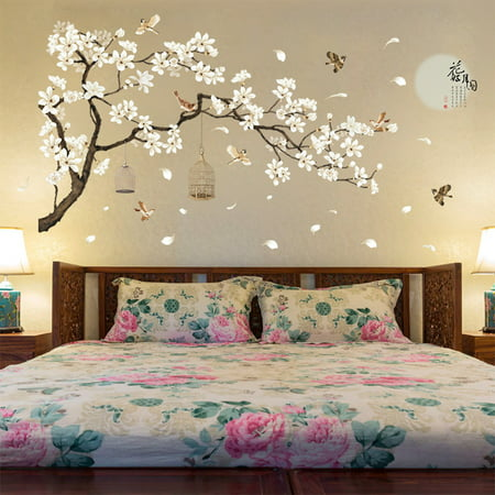 187x128cm Large Size Tree Wall Stickers Birds Flower Home Decor Wallpapers for Living Room Bedroom DIY Rooms Decoration](Tweety Bird Halloween Wallpaper)