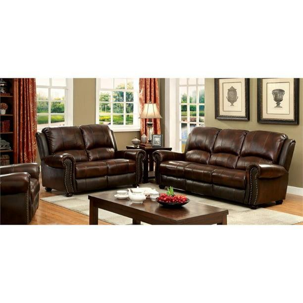 Top Grain Leather Match Sofa