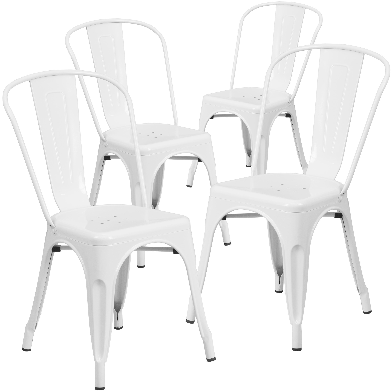 Shop Flash Furniture Metal Indoor-Outdoor Chair, 4 Pack from Walmart on Openhaus