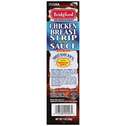 Bridgford Chicken Breast Strip and Sauce, 1 oz