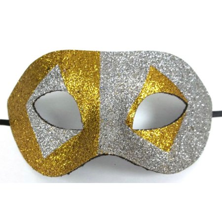 Gold Silver Glitter Diamond Wide Masquerade Mask Dance Ball Men](Mens Masquerade Ball Attire)