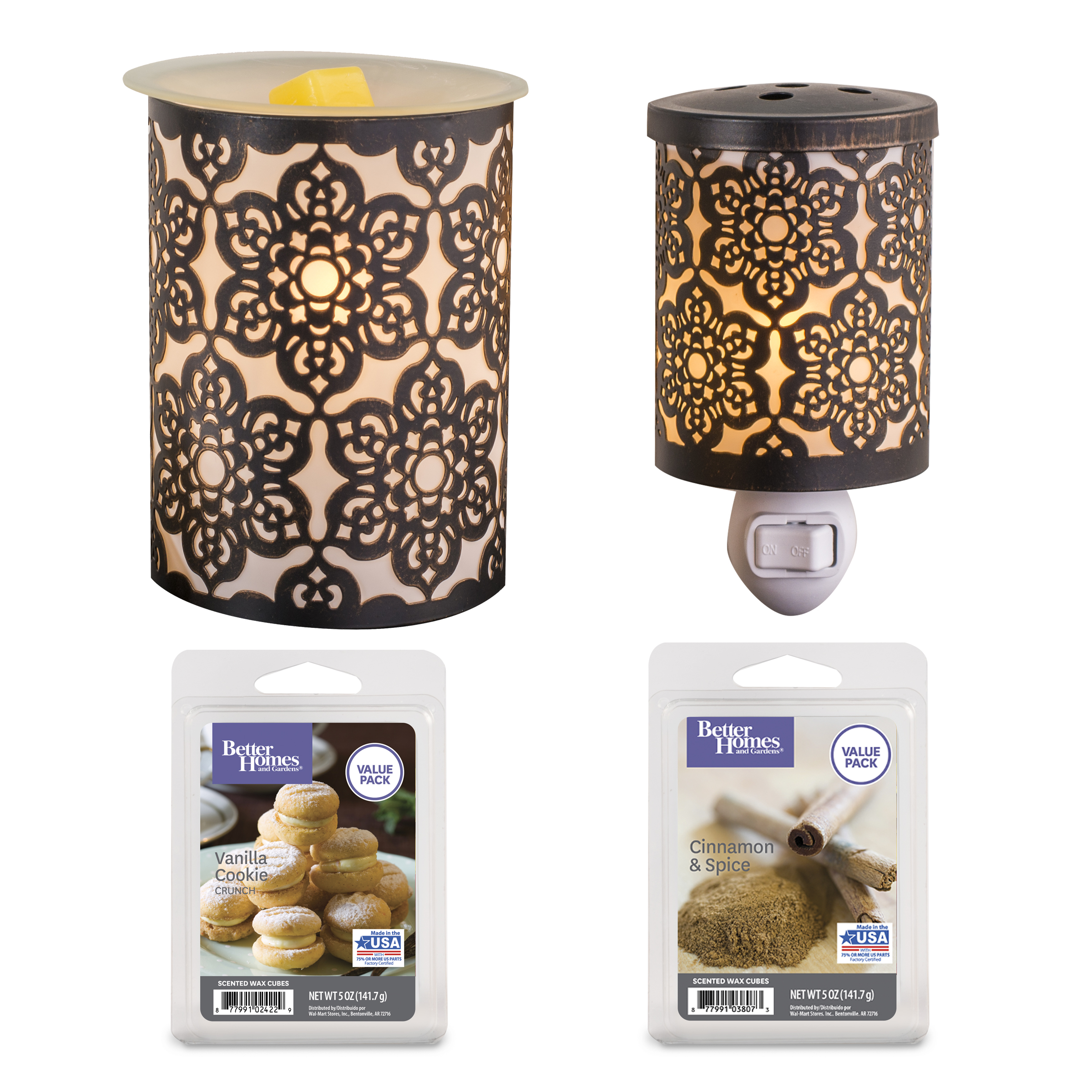 Better Homes and Gardens 4 Piece Wax Warmer Gift Set - Juliet