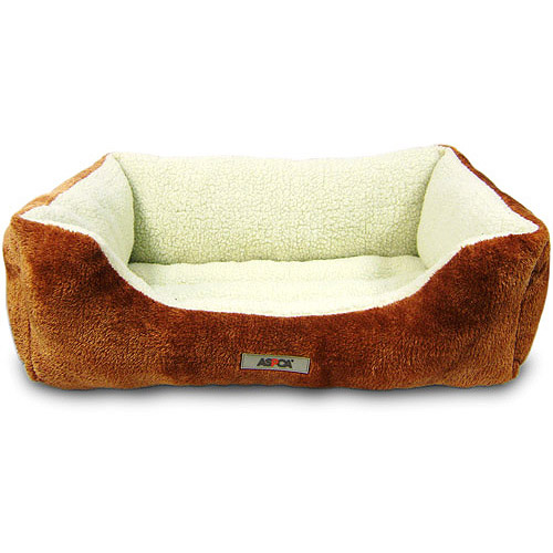 "ASPCA Sherpa Cozy Snuggler Medium Bed, 20""x15"""