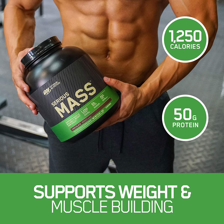 Buy Optimum Nutrition Serious Mass Protein Powder, Vanilla, 50g Protein, 6 Lb Online in Qatar. 32686939