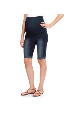 cc5ac8375015e Product Image Oh! Mamma Maternity Over Belly Denim Bermuda Shorts -  Available in Plus Sizes