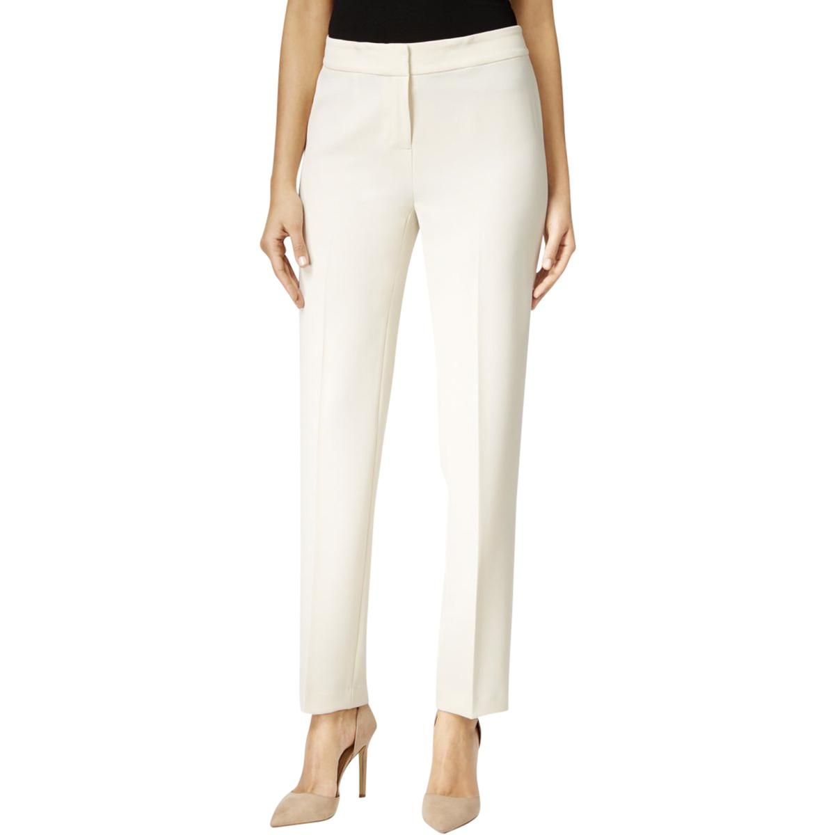 Kasper Womens Straight Leg Crepe Casual Pants