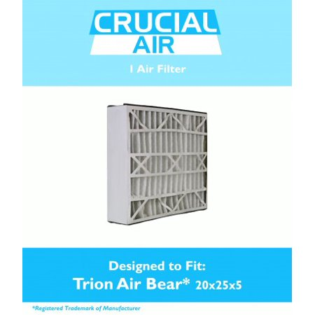 Trion Air Bear Filter 255649-102 Pleated Furnace Air Filter 20x25x5 MERV 8 ()