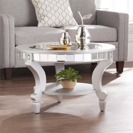 Bowery Hill Glam Round Mirrored Coffee Table - image 1 de 9