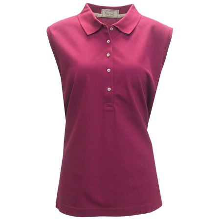 McIlhenny Women's Sleeveless Solid Pique Polo Golf Shirt,  by Tabasco - - Solid Polished Golf