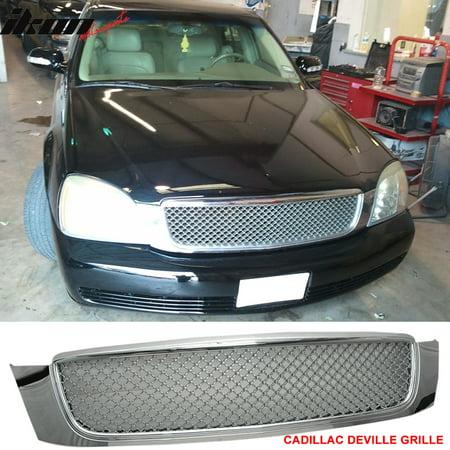 Ikon Motorsports Grille - Fits 00-05 Cadillac Deville Chrome Mesh Grill Grille - ABS Chrome Grille Grill Insert
