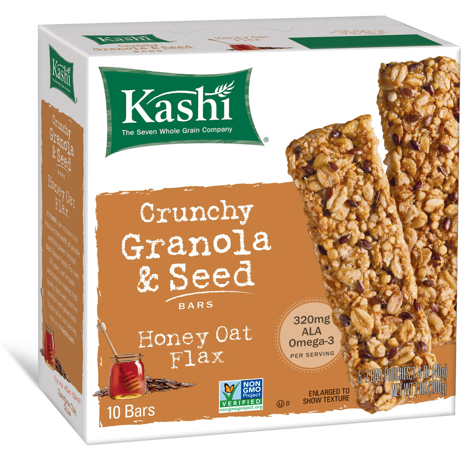 Bar Crnchy Hny Oat Flax, 7 Oz (pack Of 1