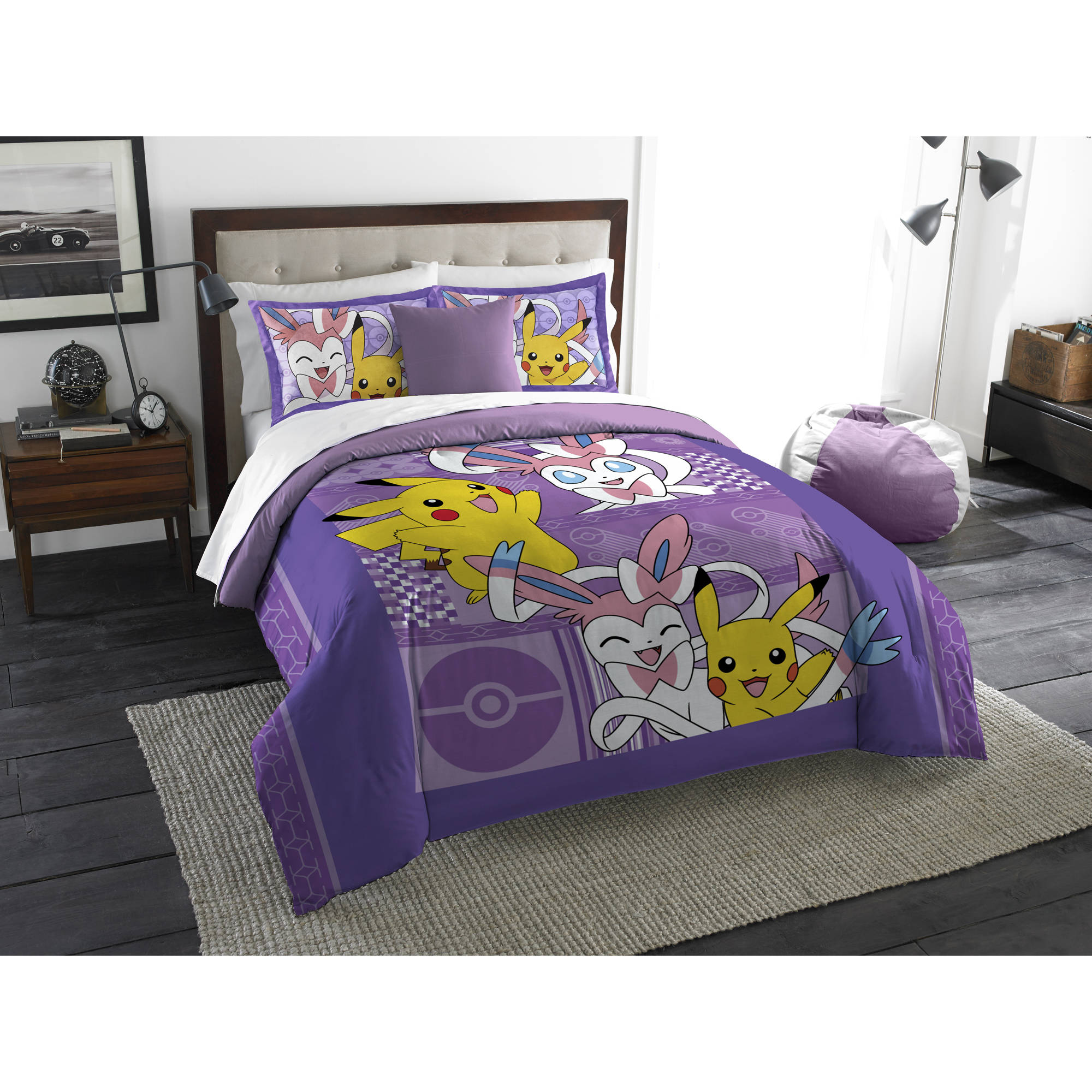 Pokemon Lavender Chu Twin Full Bedding Comforter Set