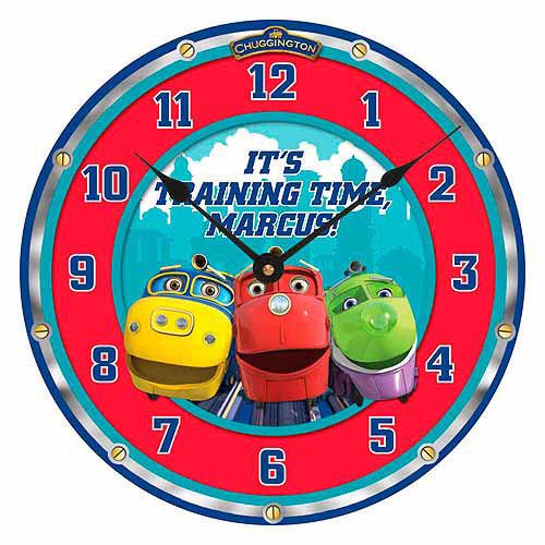 Personalized Chuggington Training Time Wall Clock