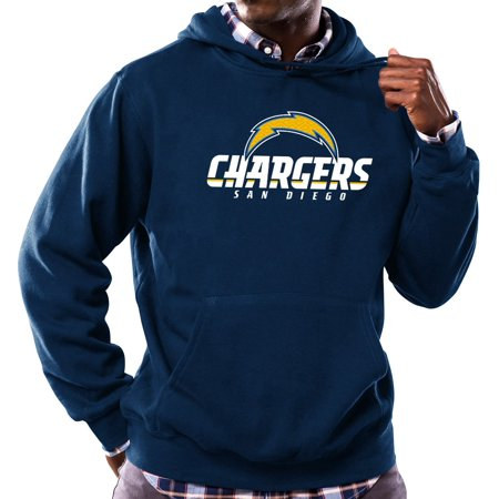 San Diego Chargers Majestic NFL Critical Victory Hooded Sweatshirt Navy by