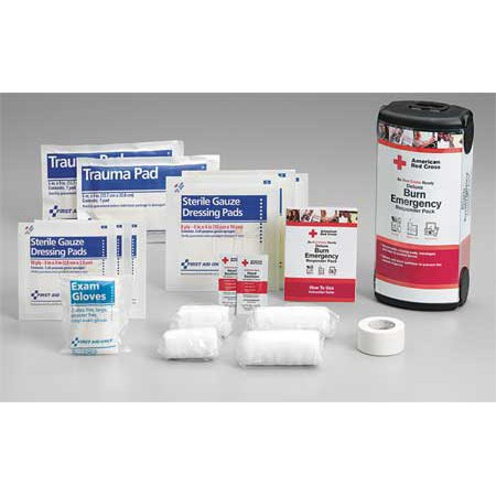 Burn Care Kit,  Plastic Case, Bulk, 1 Person FIRST AID ONLY (1 Person First Aid)