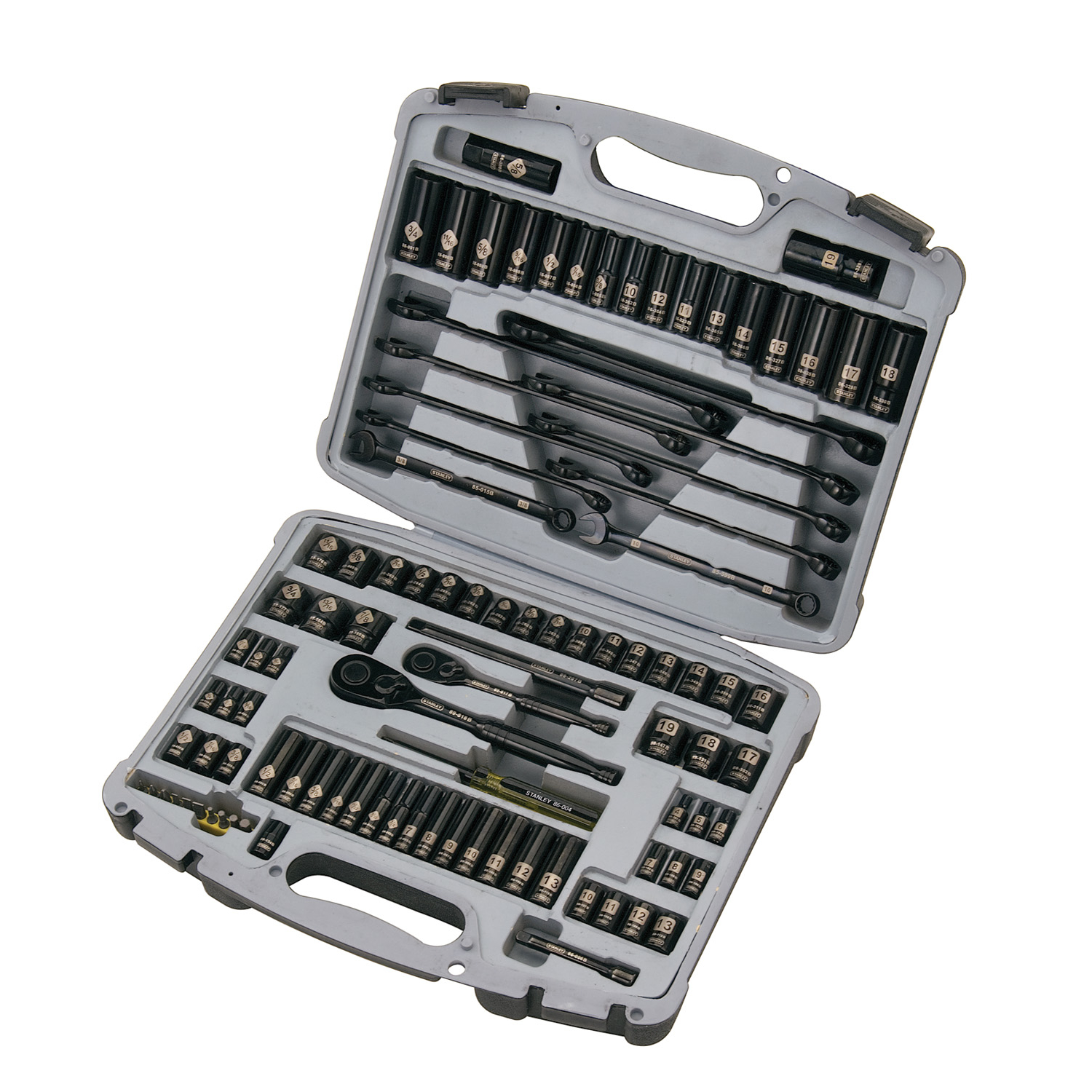 STANLEY 92-839 ($10 off $50+ Purchase) 99-Piece Mechanics Tool Set, Black Chrome